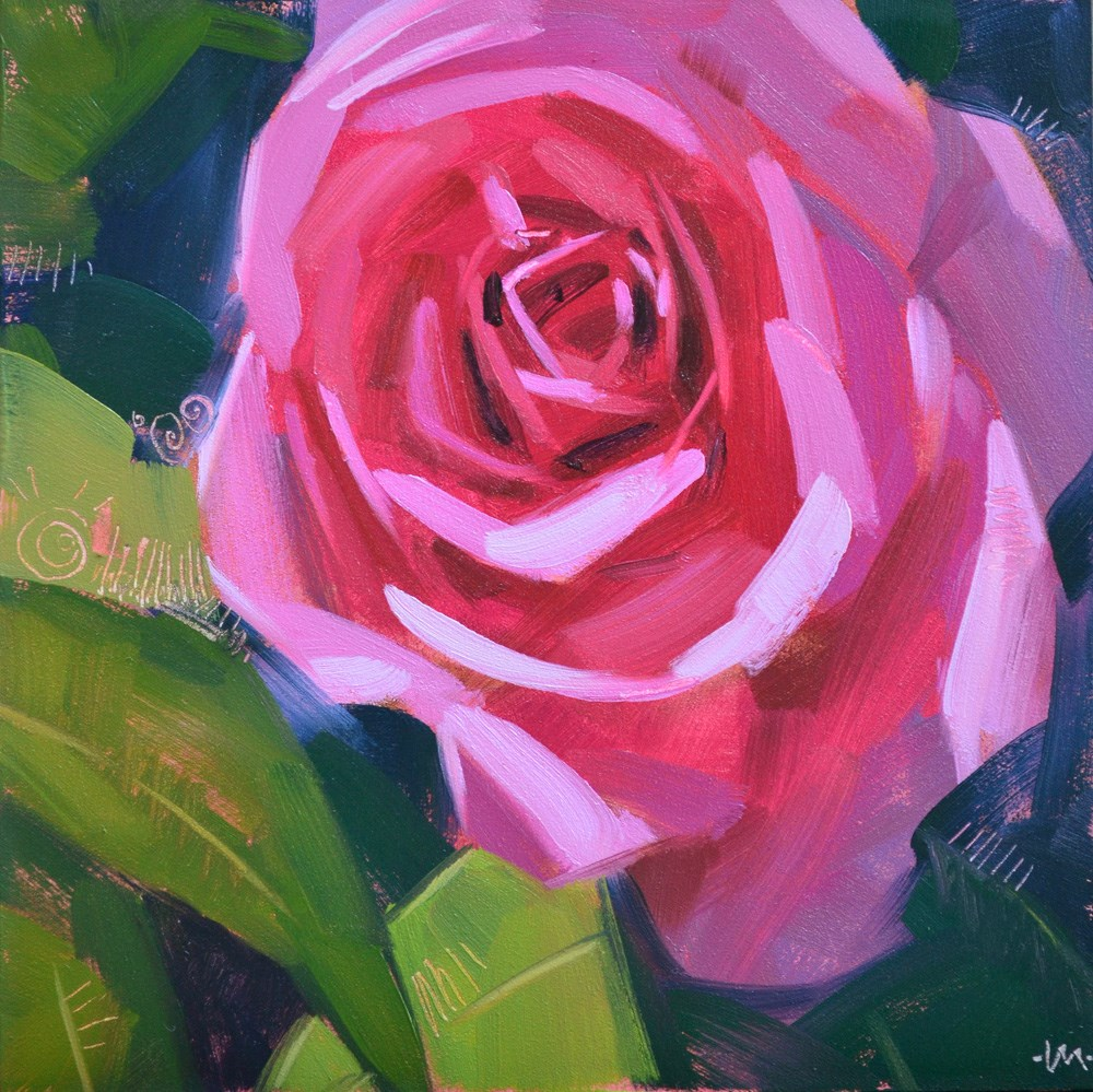 """Pink Haze"" original fine art by Carol Marine"