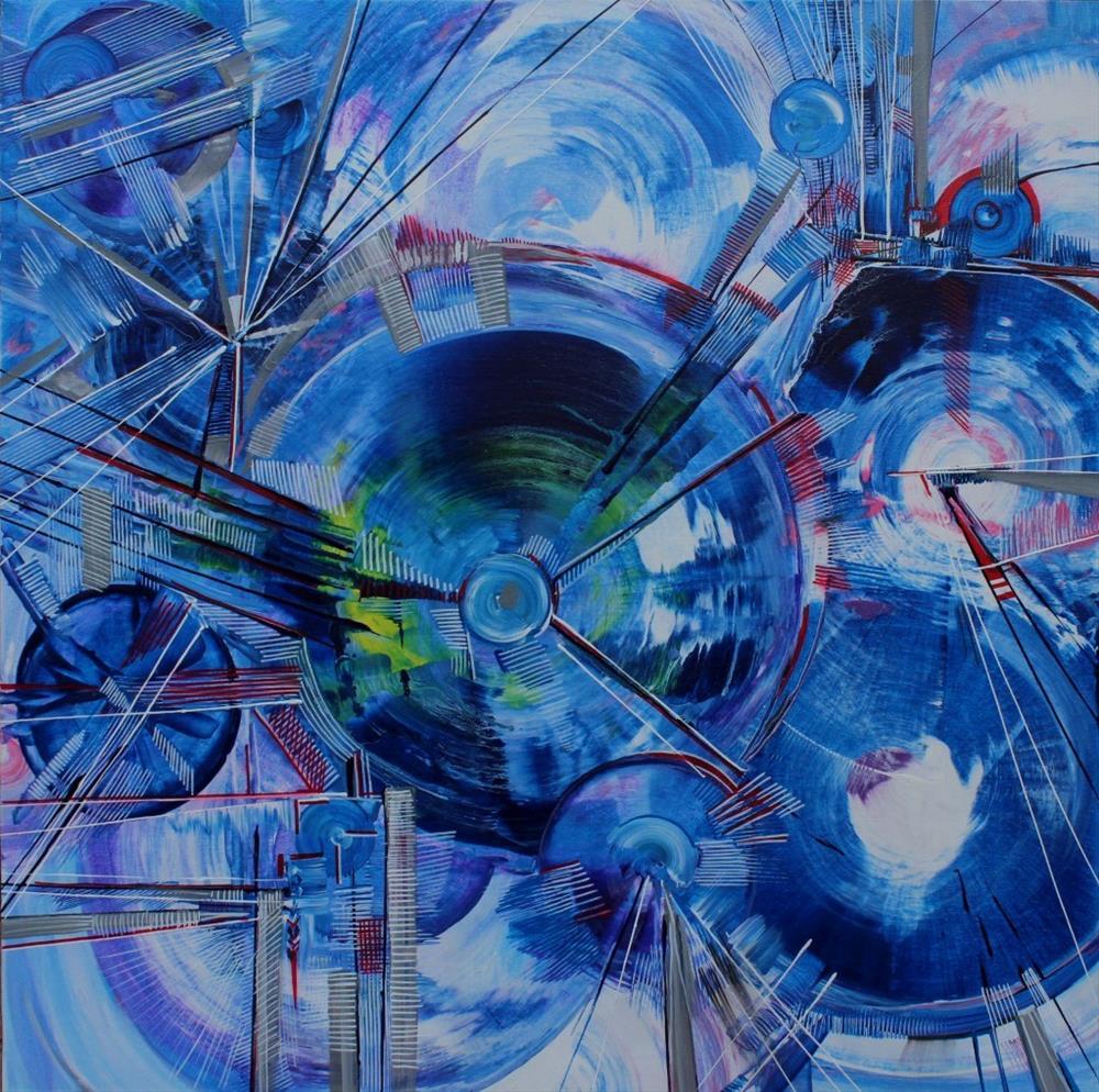"""Blue"" original fine art by Khrystyna Kozyuk"