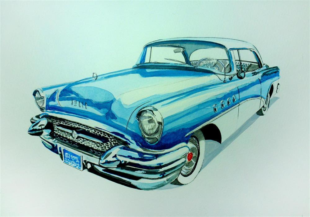 """1950's Buick"" original fine art by John Monney"