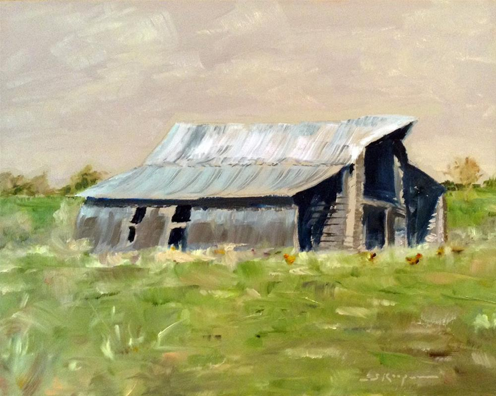"""Huddleston Chickens"" original fine art by Shelley Koopmann"