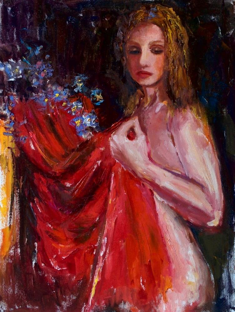"""Red Scarf"" original fine art by pepa sand"