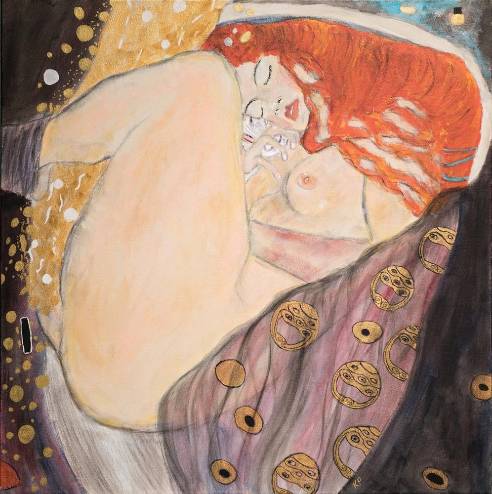 """Stepping into Klimt's Shoes II"" original fine art by Kali Parsons"