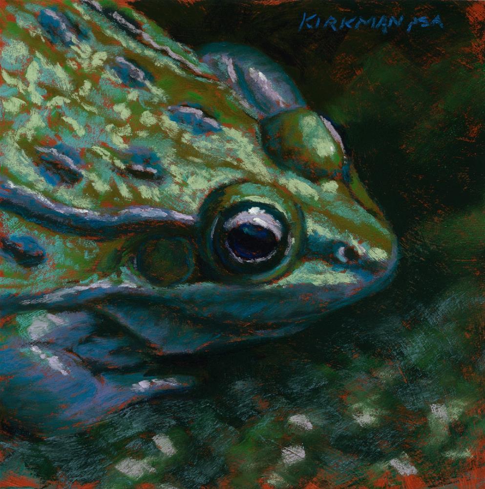 """Scaredy Toad"" original fine art by Rita Kirkman"