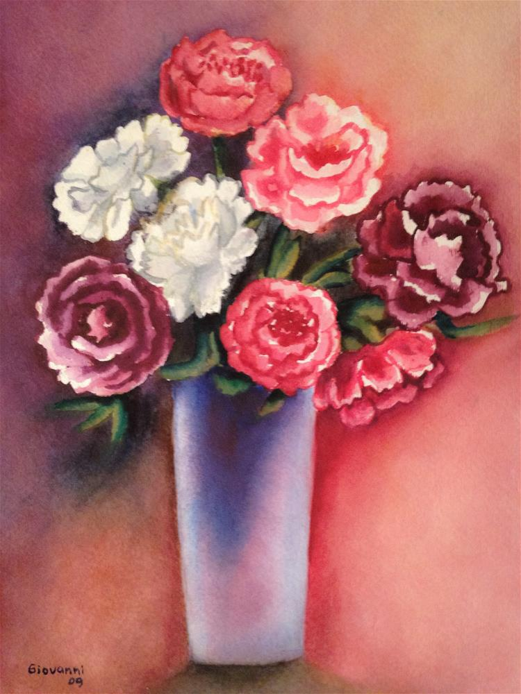 """Peonies"" original fine art by Giovanni Antunez"