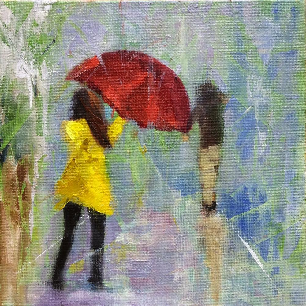 """Rainy Day Revisited"" original fine art by Peggy Schumm"