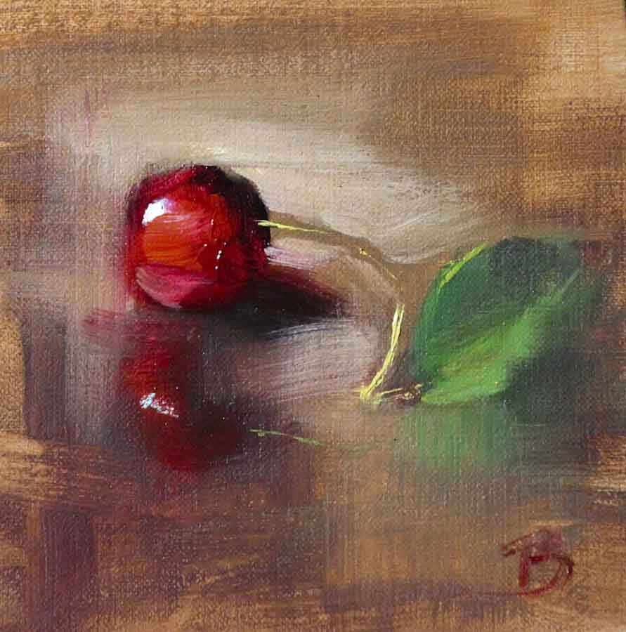 """Sweet Cherry"" original fine art by Pamela Blaies"