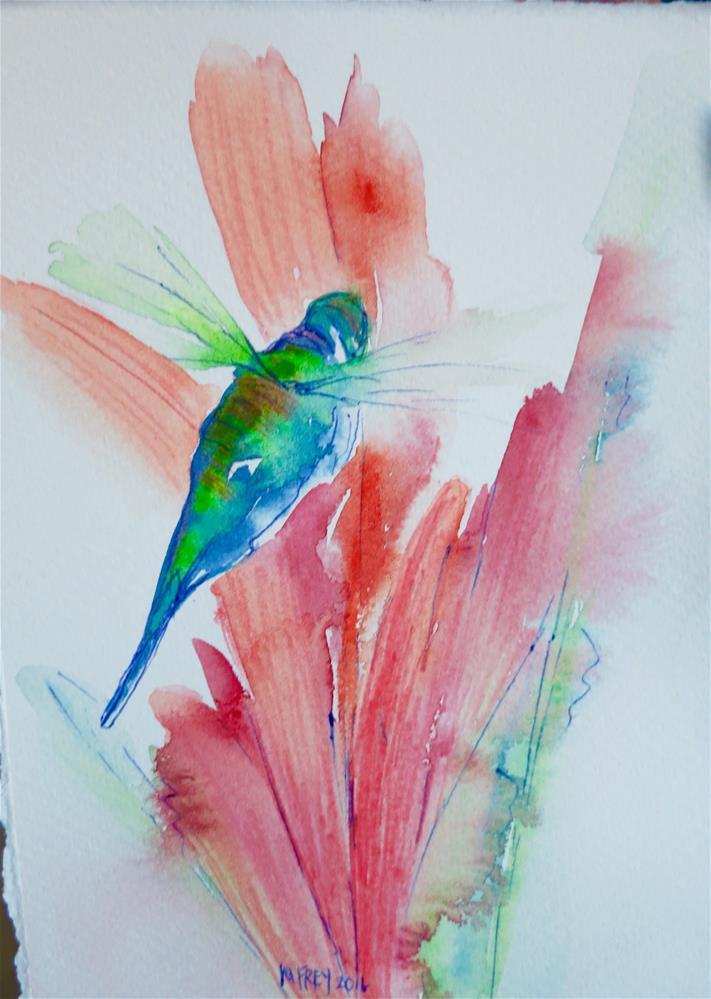 """Hummingbird 0121"" original fine art by Michelina Frey"