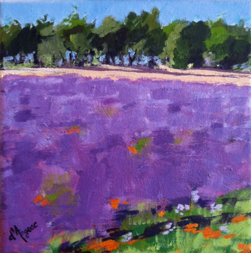 """Lavender in Provence II"" original fine art by Karen D'angeac Mihm"