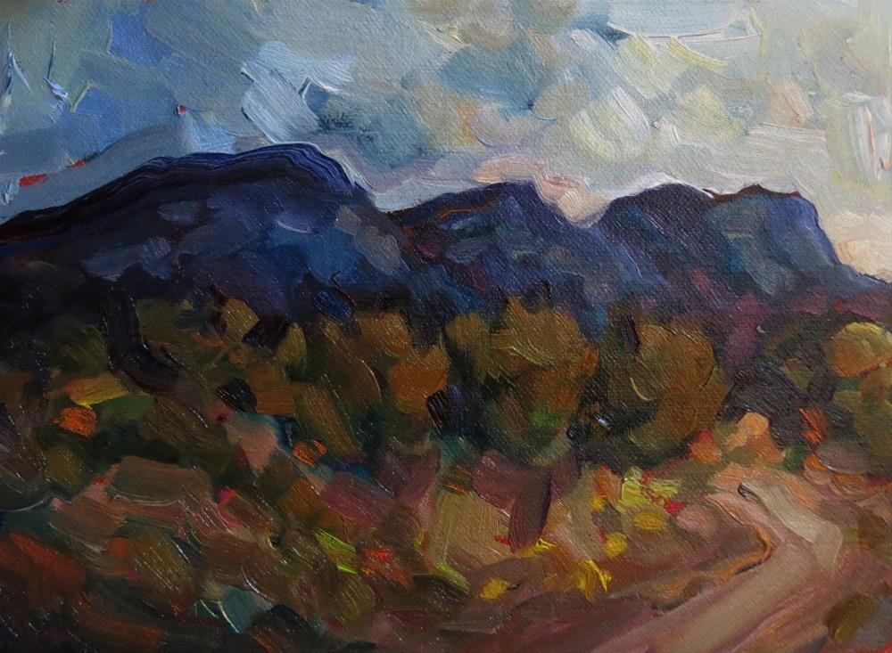 """PLACITAS WASH"" original fine art by Dee Sanchez"