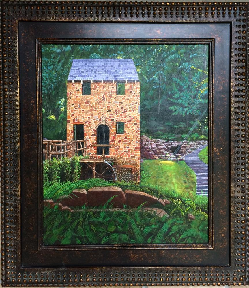 """The Old Mill"" original fine art by Beau Crump"