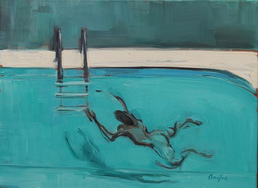 """Nude Swimmer"" original fine art by Angela Ooghe"