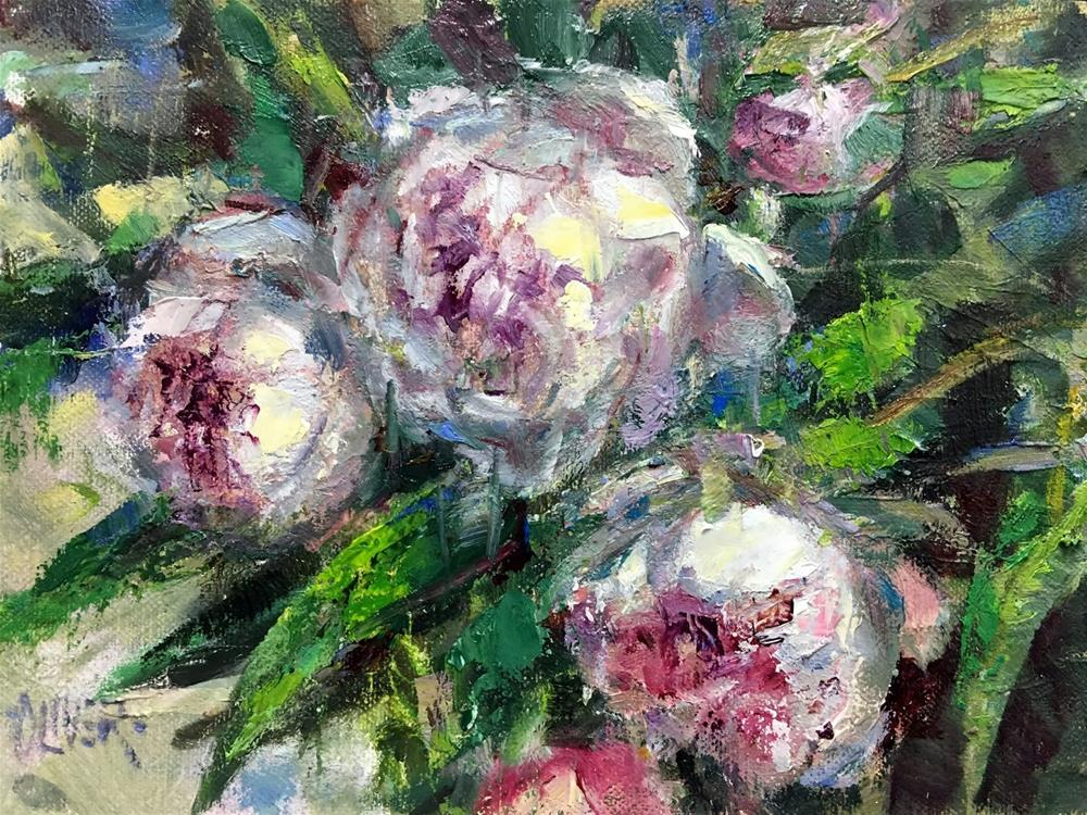 """""""Peonies"""" original fine art by Julie Ford Oliver"""