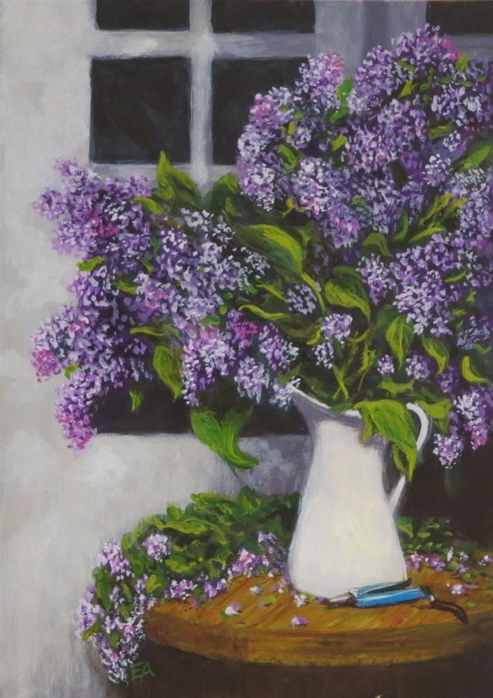 """Lilac Bouquet"" original fine art by Elizabeth Elgin"