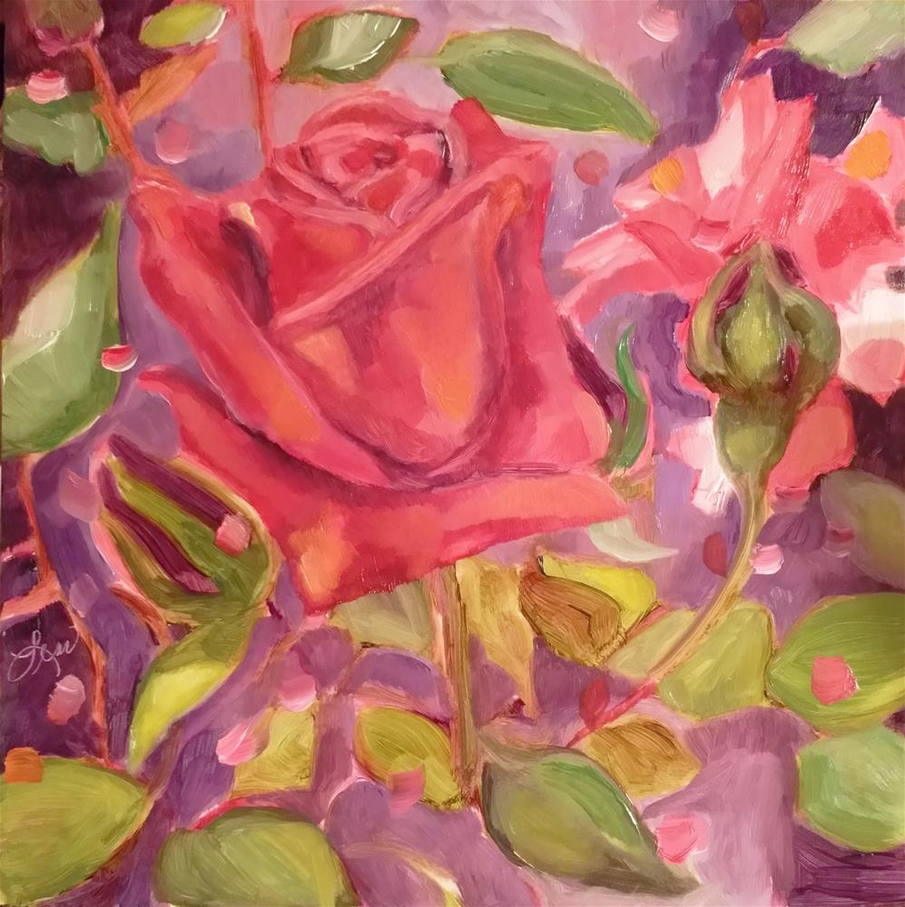 """Helen's Rose"" original fine art by Leni Tarleton"