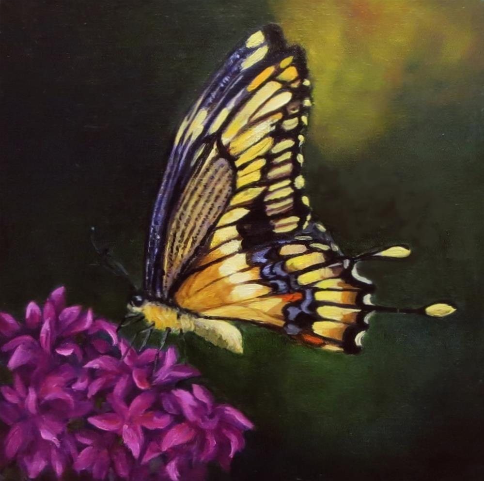 """""""Flutterbye"""" original fine art by Elizabeth Elgin"""