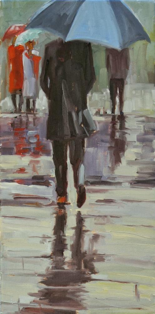 """a wee bit wet"" original fine art by Carol Carmichael"