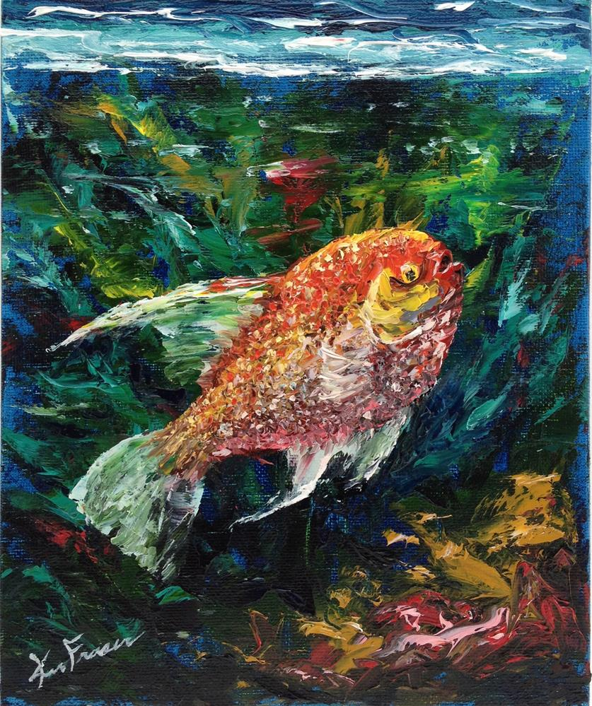 """Tropical Fish"" original fine art by Ken Fraser"