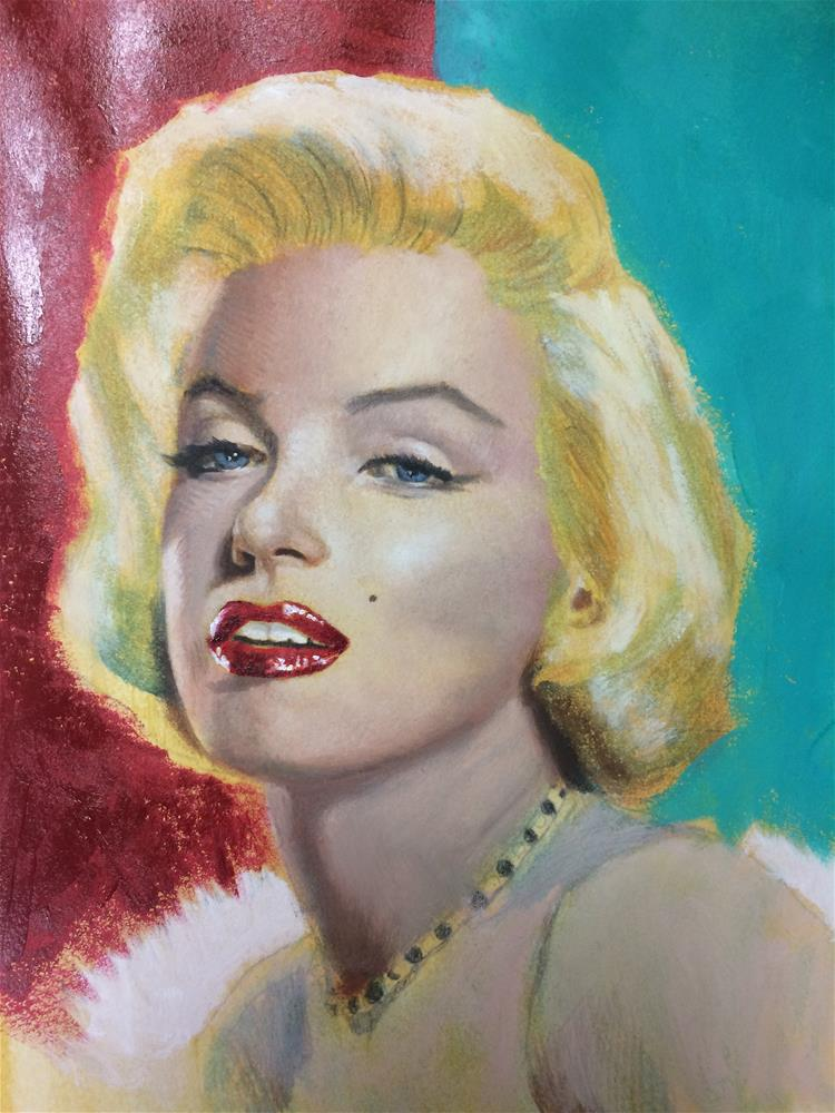 """Marilyn Monroe -painting in progress"" original fine art by Paulo Jimenez"