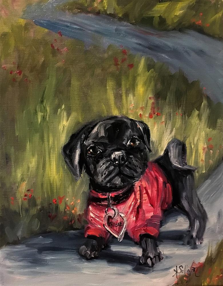 """Rosie dog painting by Alabama Artist Angela Sullivan"" original fine art by Angela Sullivan"