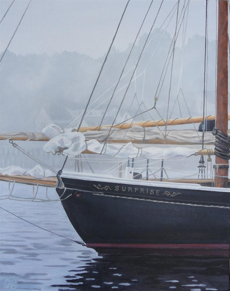 """Harbor Morning"" original fine art by Christine Blain"