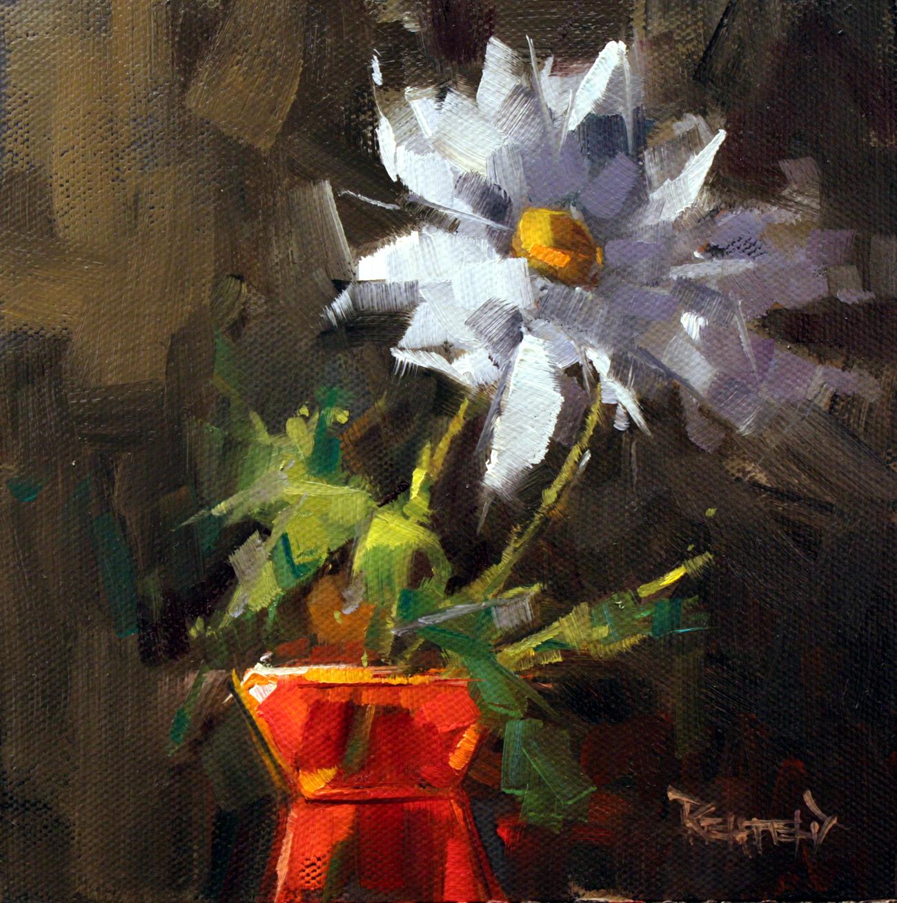 """Polar Night Flower Power"" original fine art by Cathleen Rehfeld"