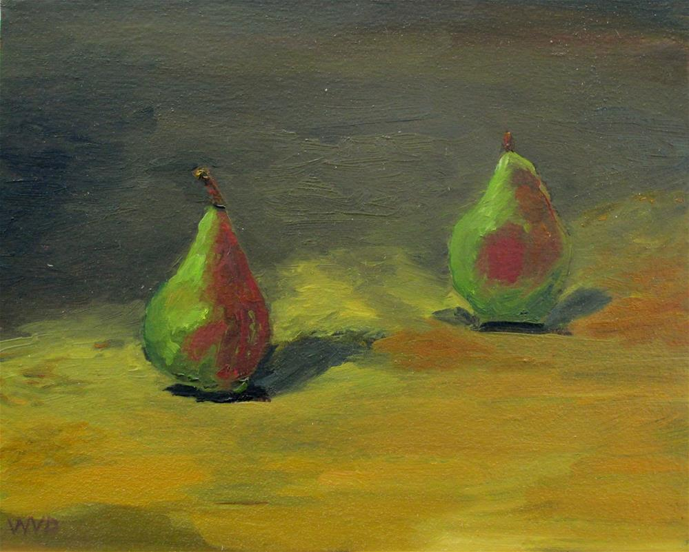 """Two Pears"" original fine art by Will Dargie"
