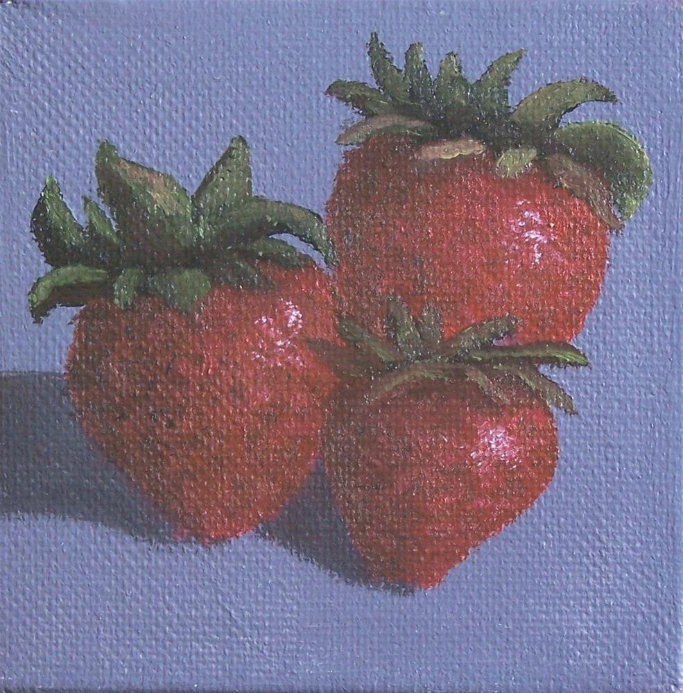 """Strawberries #2"" original fine art by John Marcum"