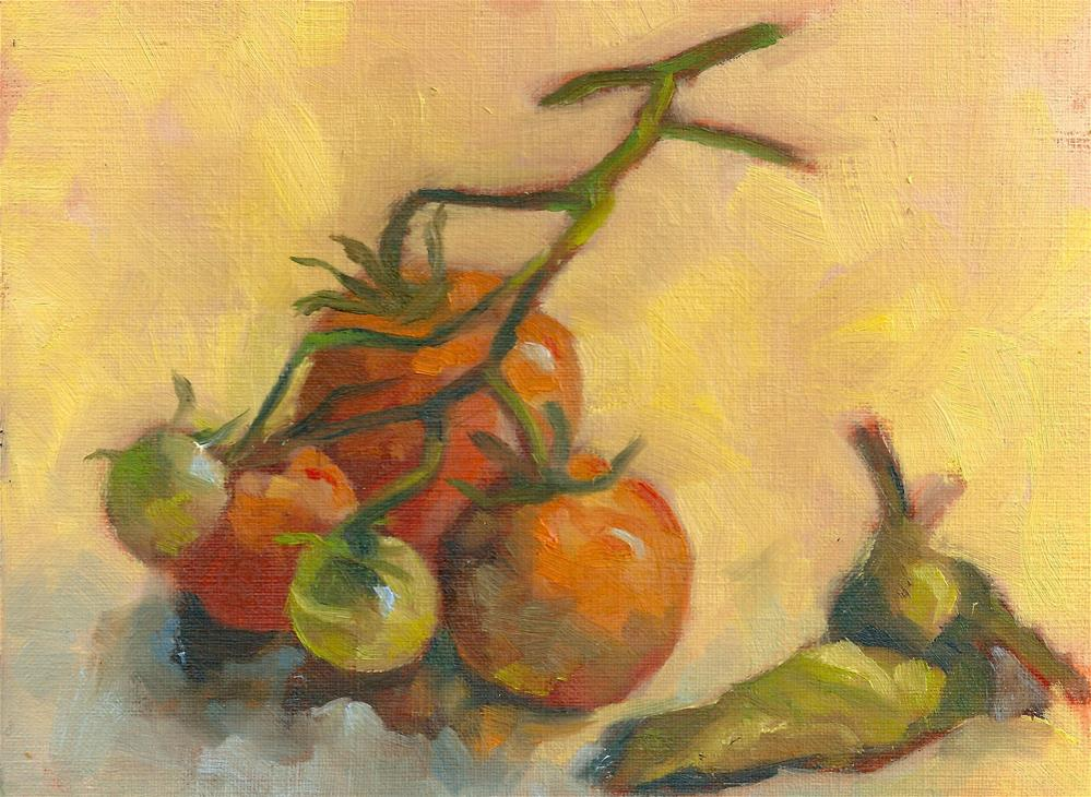 """Cherry Tomatoes"" original fine art by Marlene Lee"
