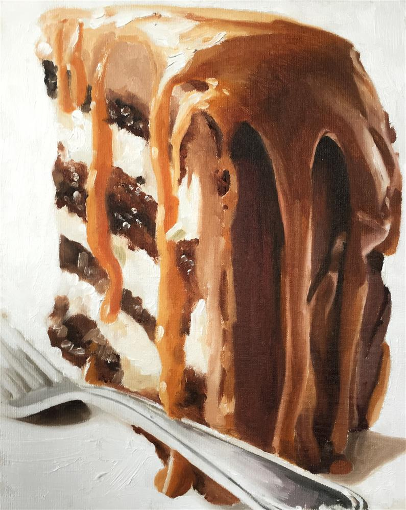 """Cake with Fudge Sauce"" original fine art by James Coates"