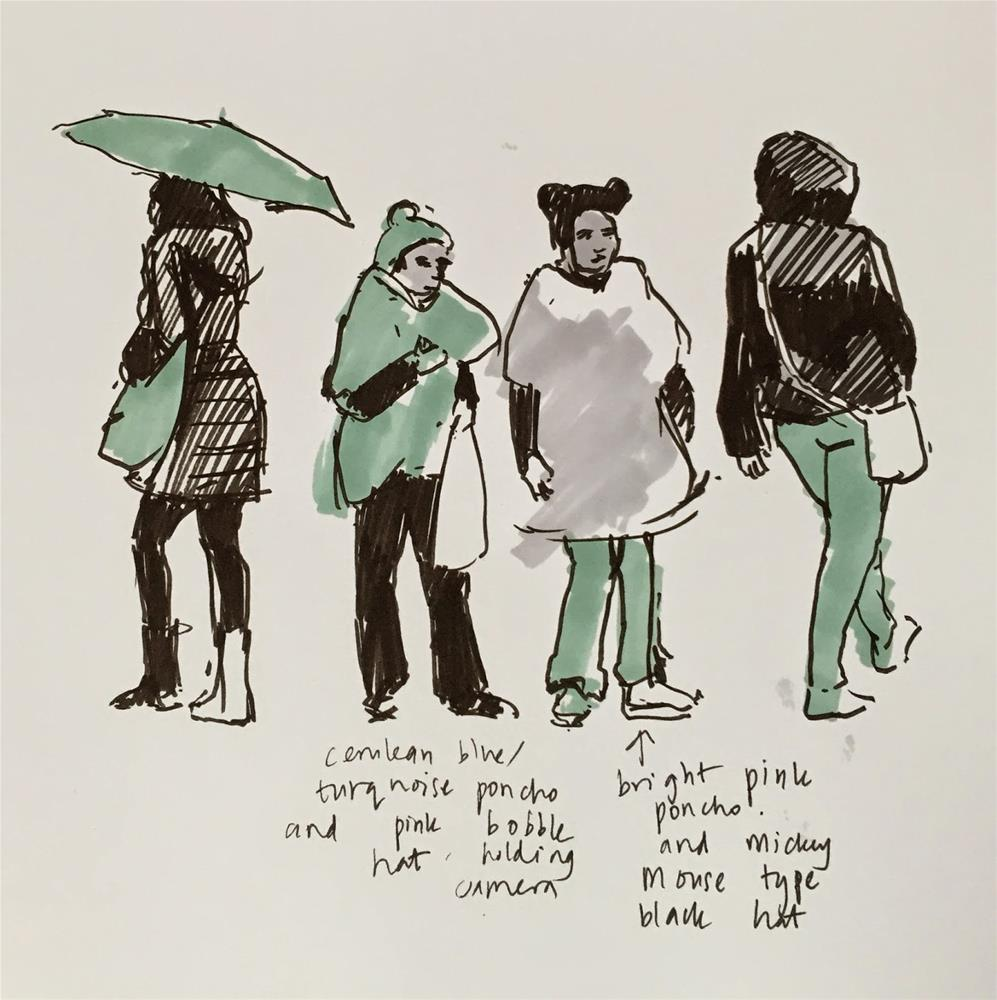 """Umbrella days"" original fine art by Haidee-Jo Summers"