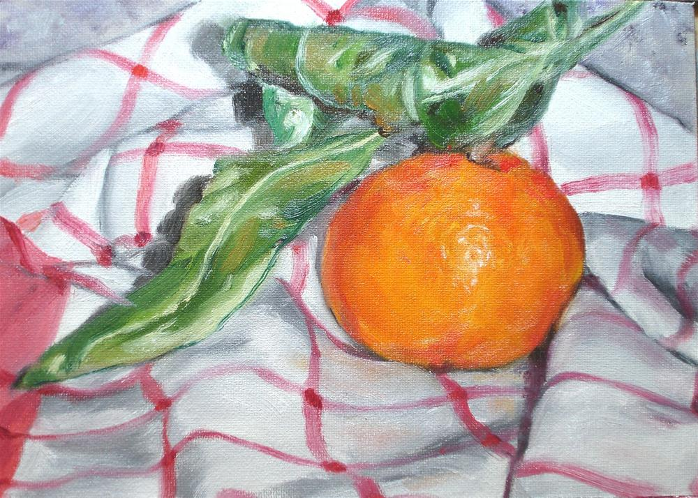 """Christmas Tangerine"" original fine art by Linda Lowery"