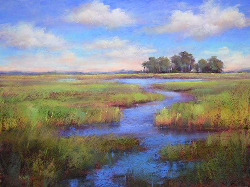 """It's a Beautiful Day"" original fine art by Karen Margulis"
