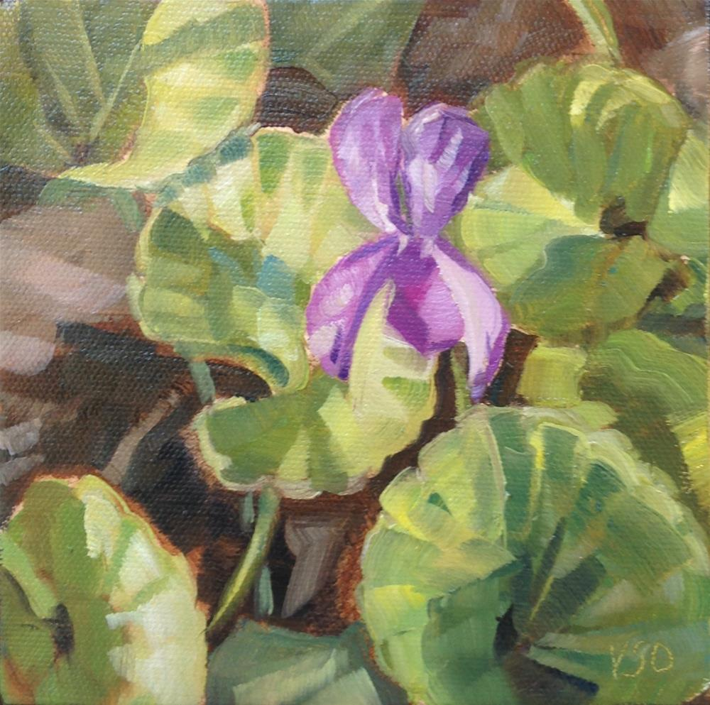 """A Flash of Violet"" original fine art by Valerie Orlemann"