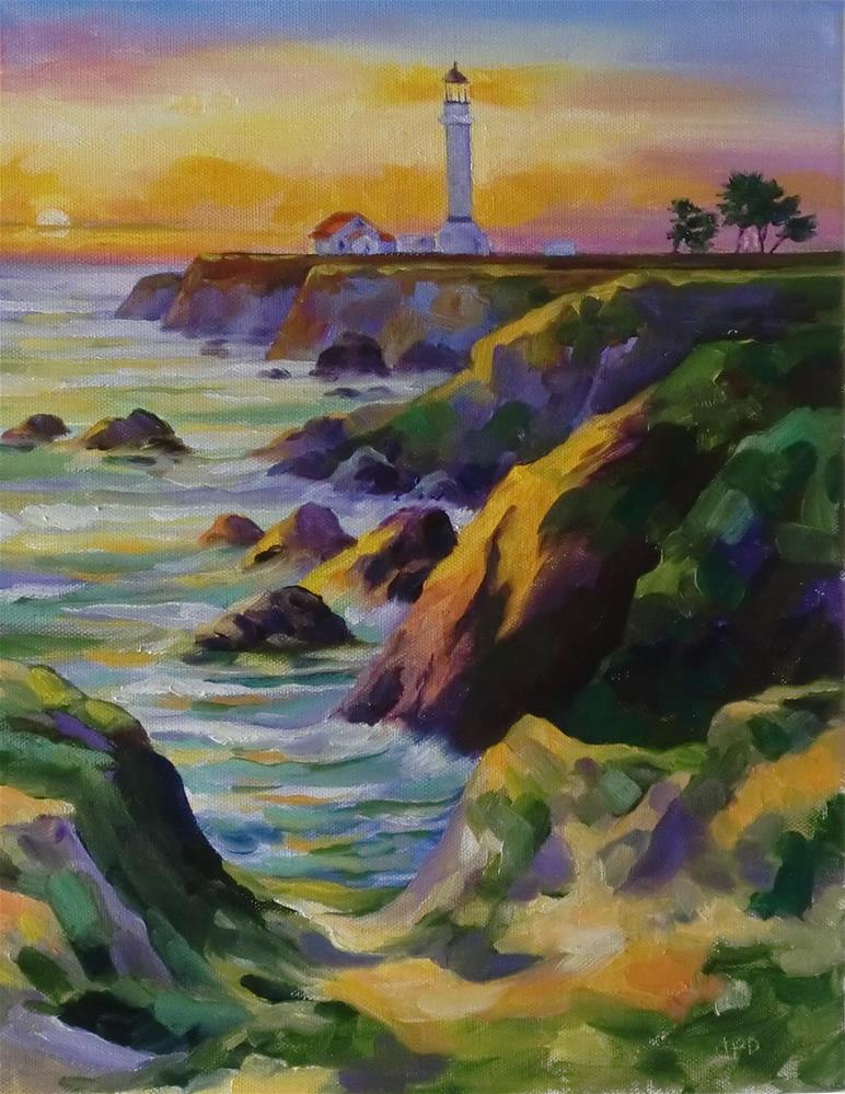 """""""Point Arena-N. Calif."""" original fine art by Jean Pierre DeBernay"""