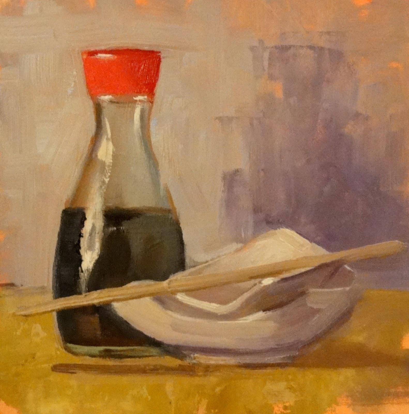 """It Must Be Monday, 6x6"" original fine art by Ann Feldman"