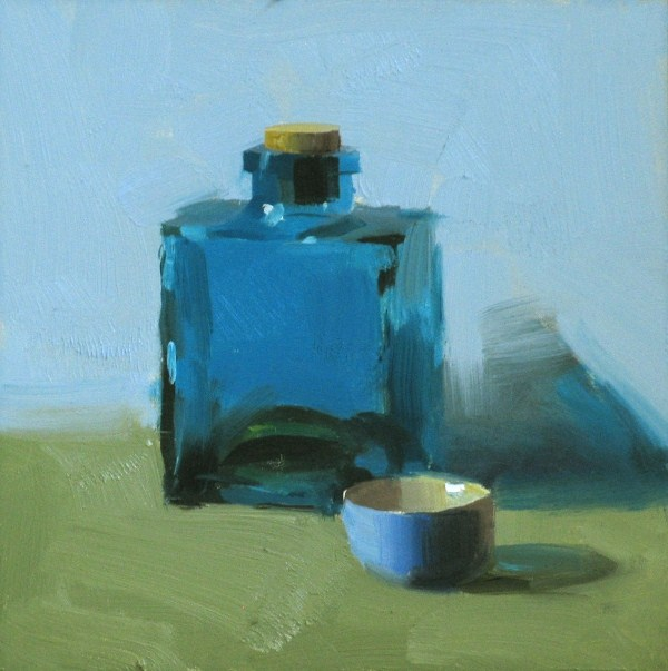 """The color of blue 2"" original fine art by Qiang Huang"