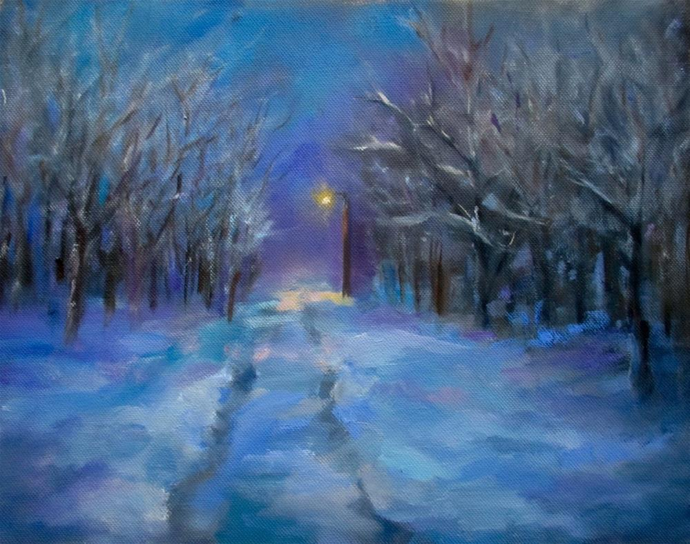 """Snowy Solitude"" original fine art by Linda Carney"