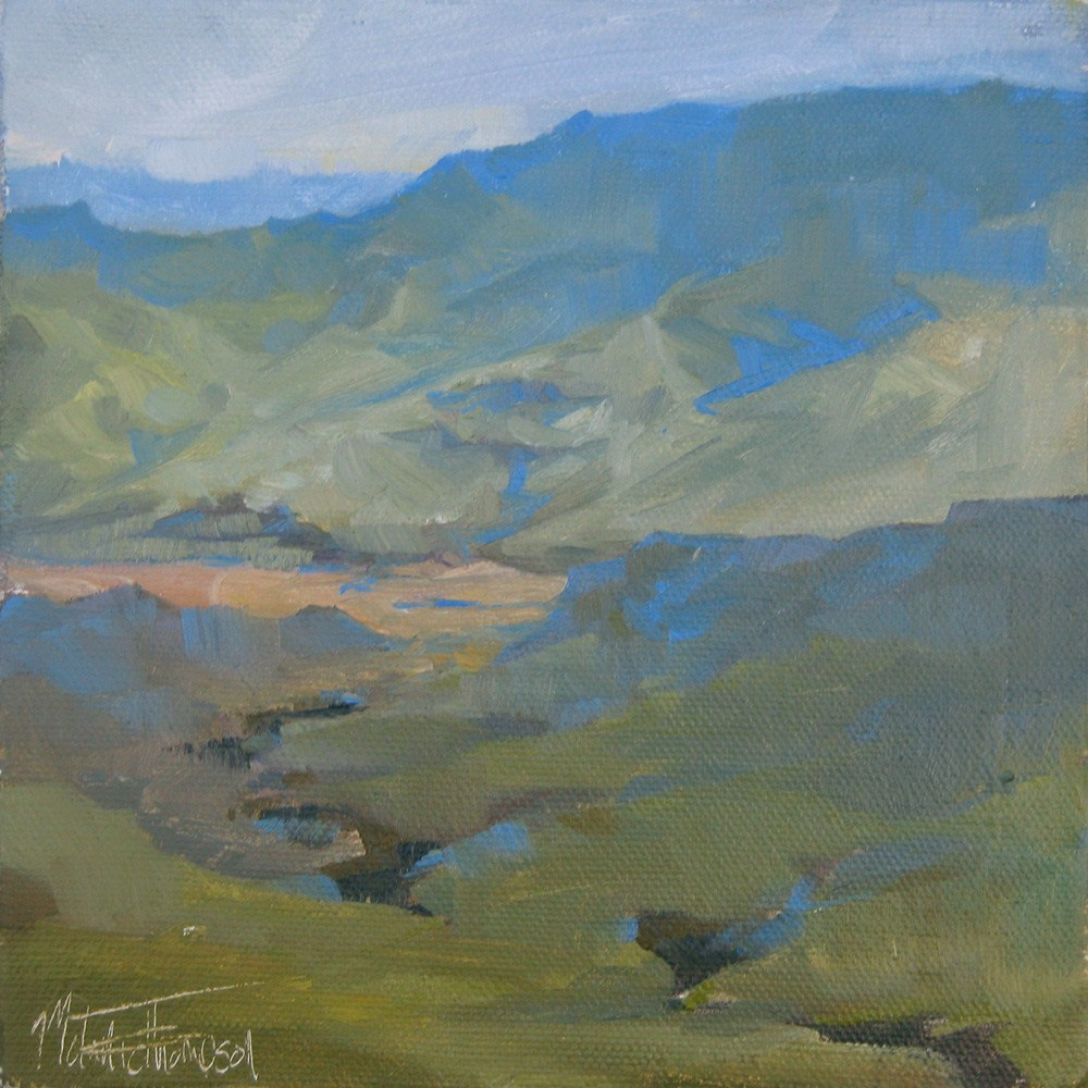"""Snake River Morning"" original fine art by Melanie Thompson"