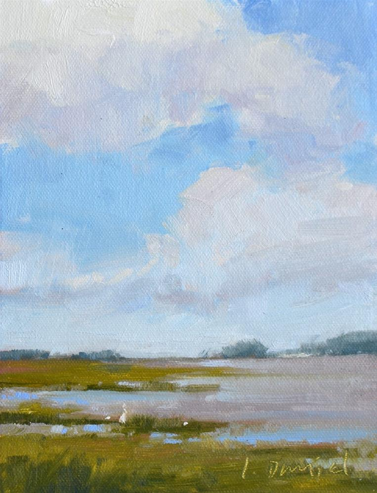 """Drifting Cloud Study"" original fine art by Laurel Daniel"