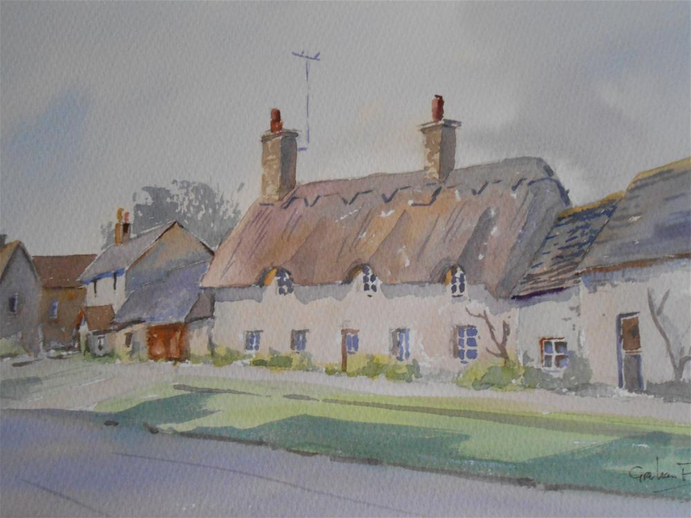 """Thatched Cottage, Oxfordshire"" original fine art by Graham Findlay"