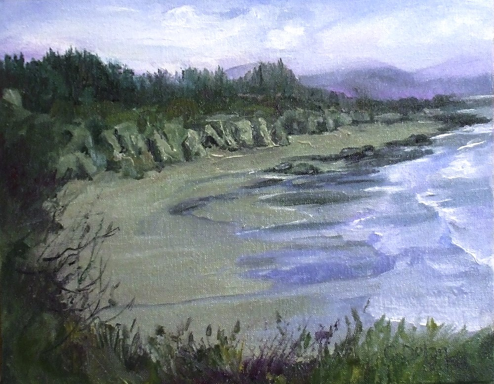 """West Coast Spring on the Beach"" original fine art by Cheryl Williams Dolan"