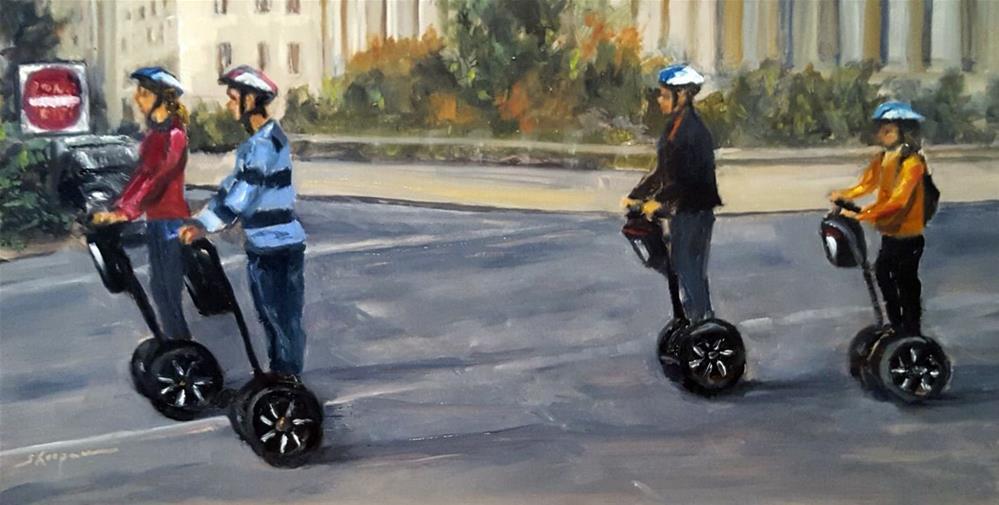 """Segway Sunday"" original fine art by Shelley Koopmann"