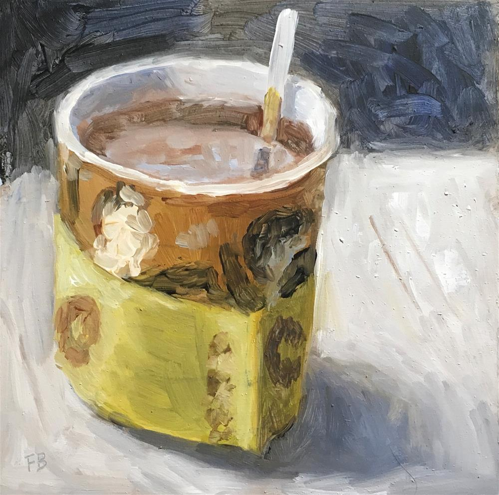 """104 Coffee Shop"" original fine art by Fred Bell"