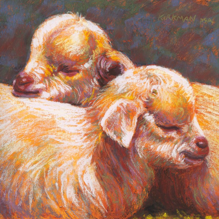 """Sleepy Siblings"" original fine art by Rita Kirkman"