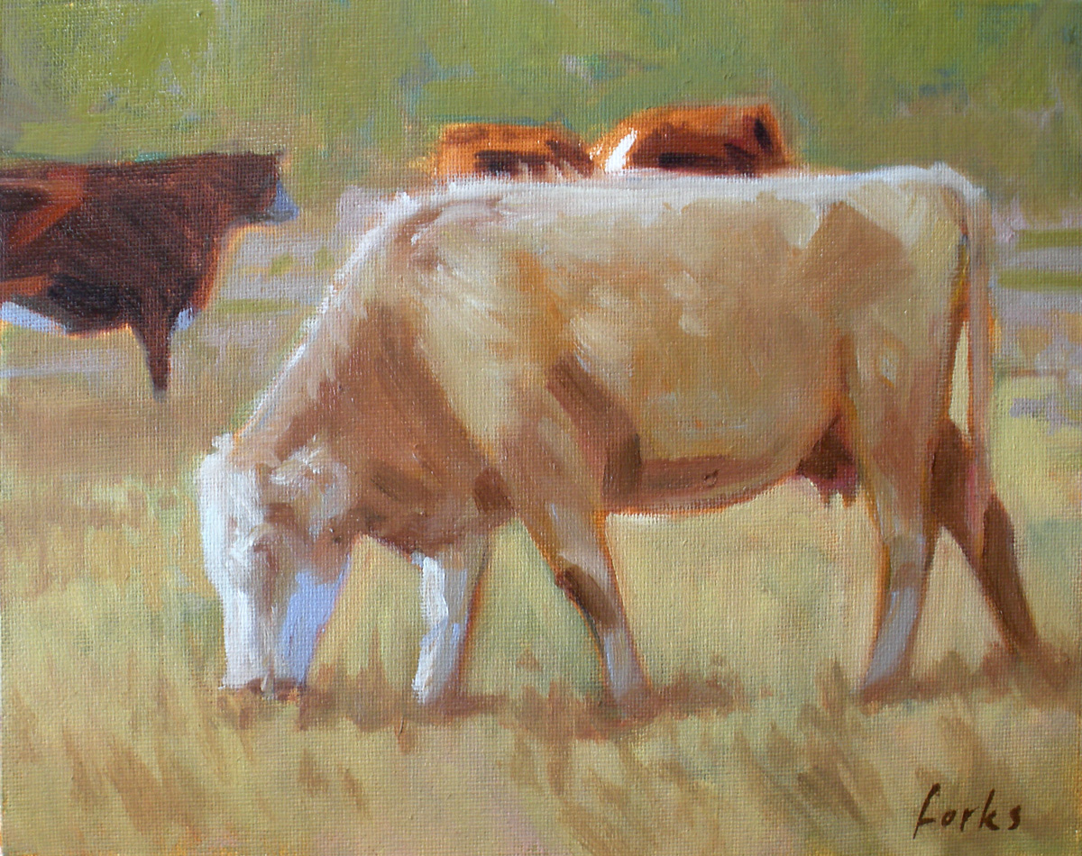 """South Texas Cattle"" original fine art by David Forks"