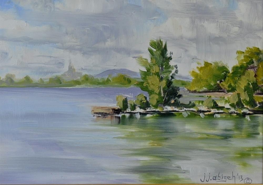 """Parc des Promenades"" original fine art by John Abisch"
