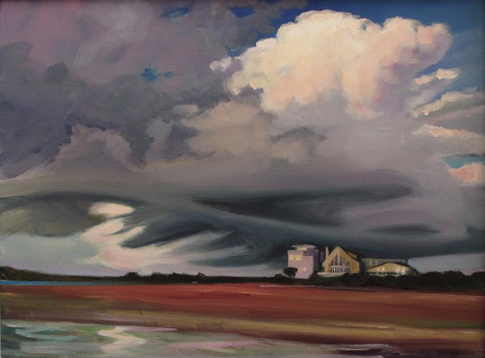 """Vilano Beach Storm"" original fine art by Susan Suraci"