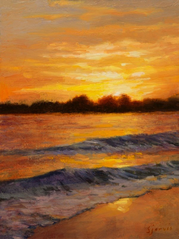 """Seabright State Park"" original fine art by Susan N Jarvis"