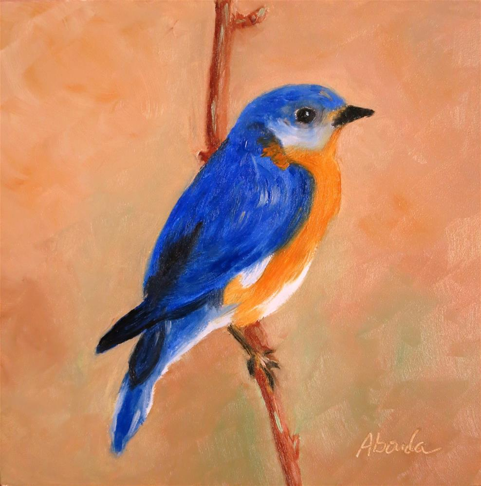 """Bluebird"" original fine art by Sandy Abouda"