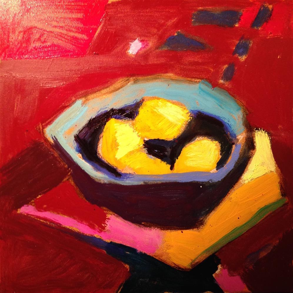 """Modern Lemons"" original fine art by Pamela Hoffmeister"